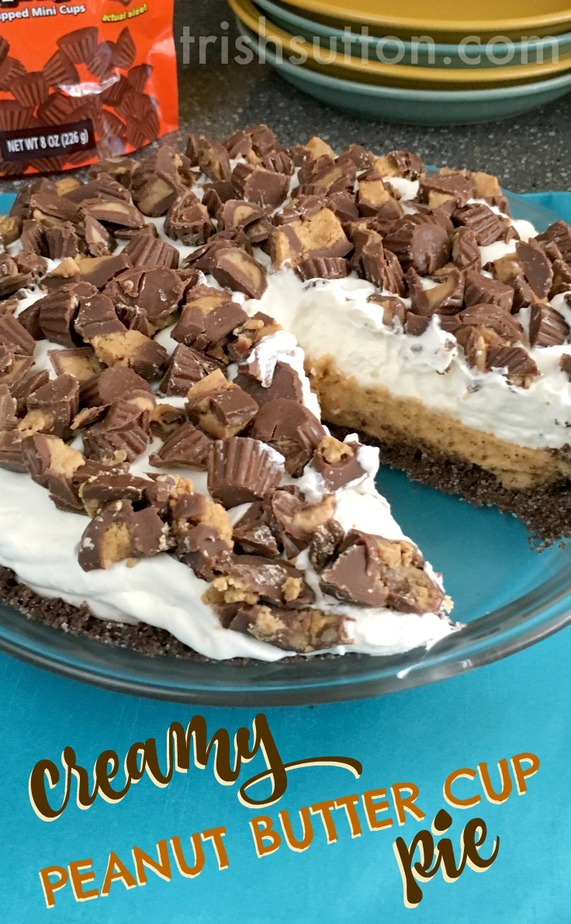 Creamy Peanut Butter Cup Pie Recipe by Trish Sutton