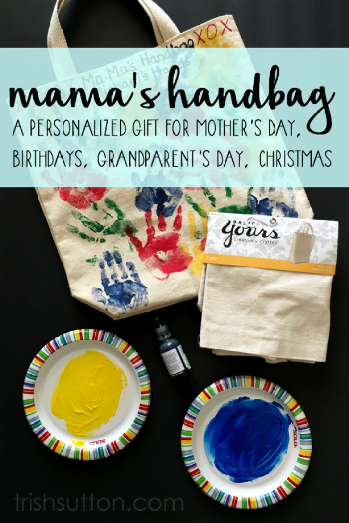 Mama's Handbag, A personalized gift for Mother's Day, Birthdays, Grandparent's Day and Christmas. By Trish Sutton