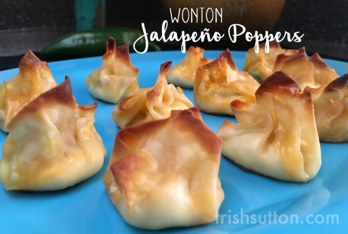 Wonton Jalapeño Poppers Recipe