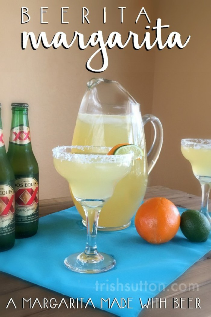 Ten minutes and six ingredients! Beer & Tequila, a few more non-alcoholic ingredients and a fresh Orange. Beerita Margarita: A Margarita Made With Beer.