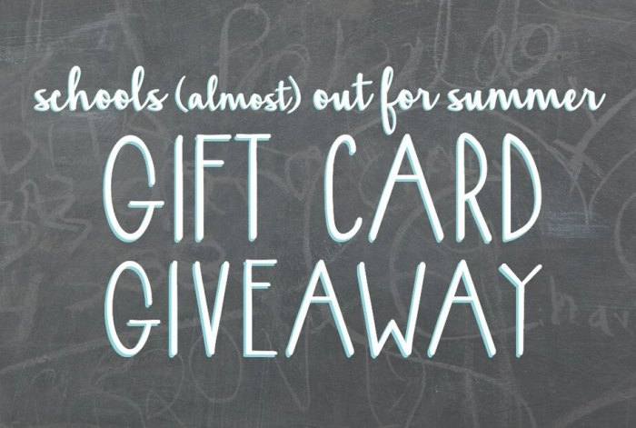 This summer will bring several gift card giveaways. Follow along on social media or subscribe to Weekly Simplicity to receive giveaway details as they are released.