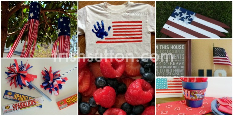 Patriotic Red, White & Blue Posts by Trish Sutton