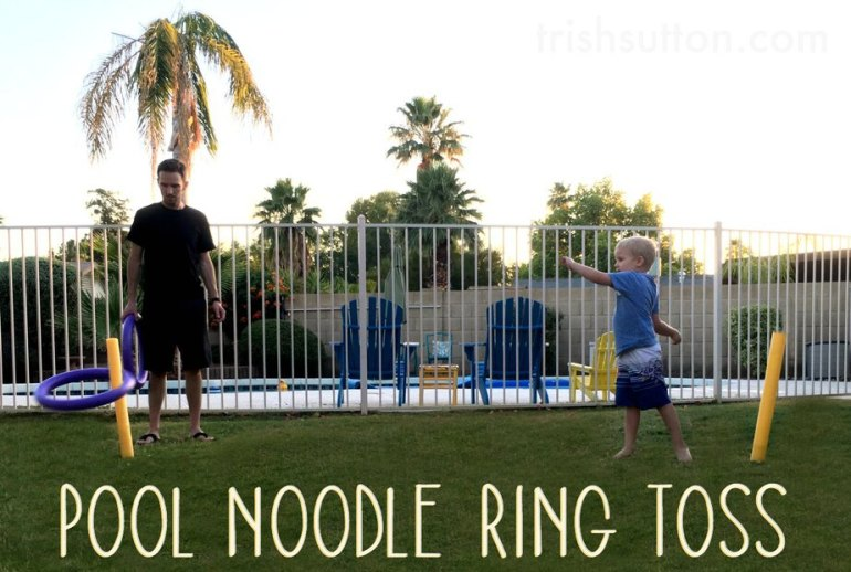 Pool Noodle Ring Toss, Back Yard Game. TrishSutton.com