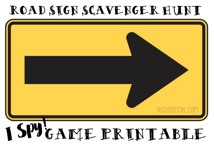photo about Printable Traffic Sign named Highway Signal Scavenger Hunt: I Spy Activity Printable