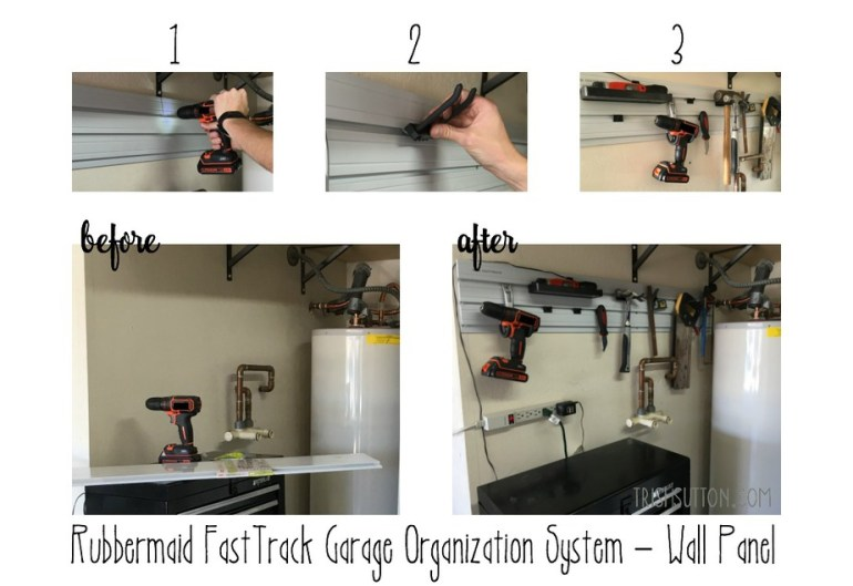 $100 Rubbermaid FastTrack Garage Clean-Up; TrishSutton.com