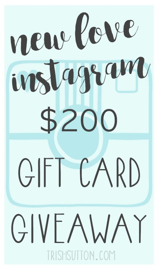 New Love, Instagram And A $200 Gift Card Giveaway, TrishSutton.com