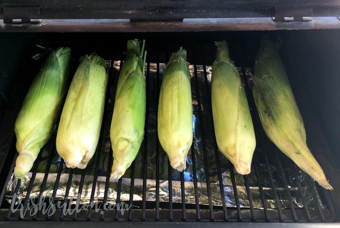 Simple Corn on the Cob; Roasted in Husk, No Shucking. TrishSutton.com