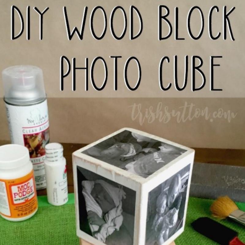 DIY Wood Block Photo Cube