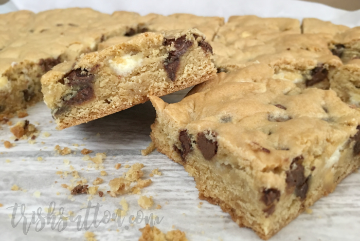 Recipe: Chewy Chocolate Chip Cookie Bars, TrishSutton.com