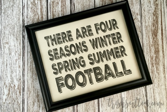 Football; Fourth Season Free Printable, TrishSutton.com