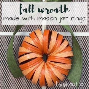 Mason Jar Ring And Craft Tape Fall Wreath, TrishSutton.com
