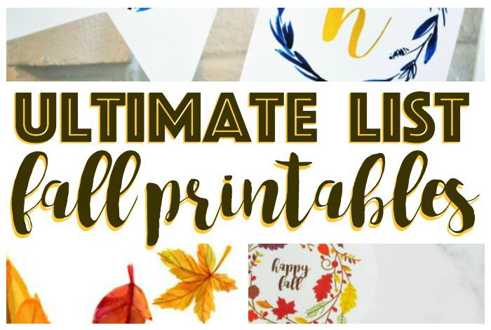 Ultimate List Of Fall Printables; From wall art to coloring pages, banners to checklists and coloring pages, this Ultimate List of Fall Printables includes a bit of autumn fun for everyone.