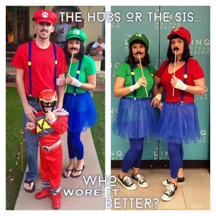 The Best Homemade Mario Luigi Ladies Halloween Costumes