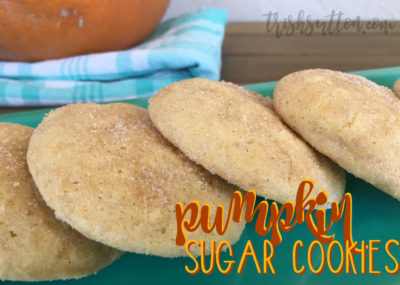 Soft Pumpkin Sugar Cookies; Slightly Sweet Fall Recipe, TrishSutton.com