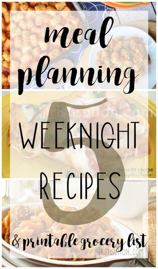 meal-planning-five-weeknight-recipes-trishsutton-com
