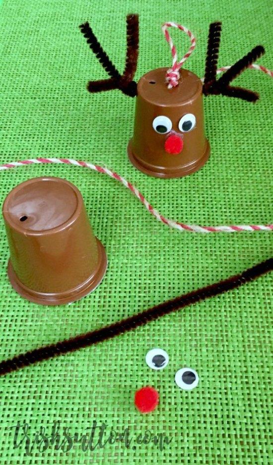 Upcycled K-Cup Reindeer Christmas Tree Ornament, TrishSutton.com