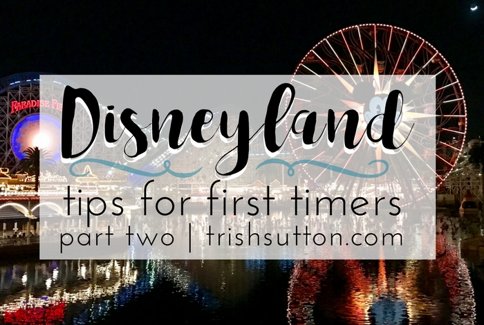 Disneyland Tips For First Timers | Part Two