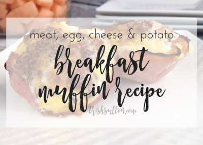 Ham, bacon, eggs, cheese and hashbrowns all served up in an edible cup; Meat, Egg, Cheese and Potato Breakfast Muffin Recipe.