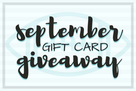 To celebrate the arrival of September (and football season) I am co-hosting a $200 gift card giveaway! Giveaway ends on September 26, 2017.