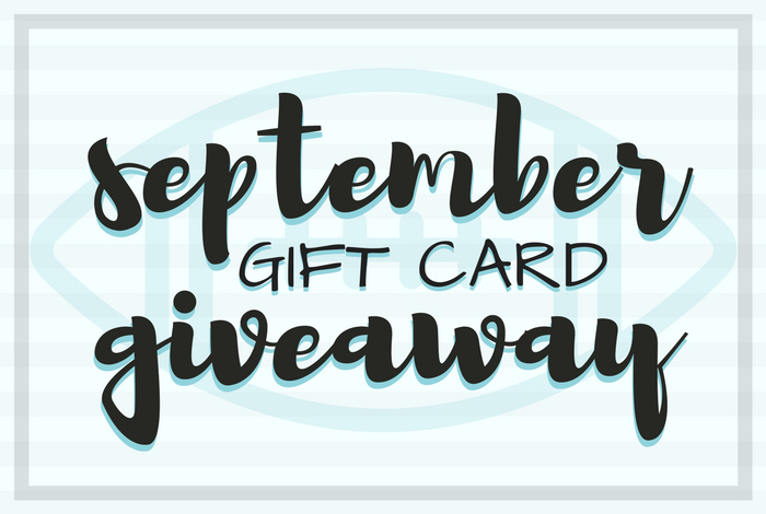 To celebrate the arrival of September (and football season) I am co-hosting a $200 gift card giveaway!Giveaway ends on September 26, 2017.