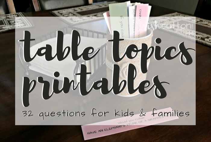 graphic relating to Would You Rather Questions for Kids Printable named Desk Matters Printable 32 Issues for Children Households