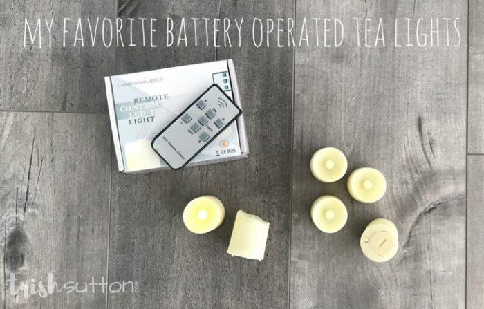 Mason Jar Mummy Luminaries; TrishSutton.com; My favorite battery operated tea lights.