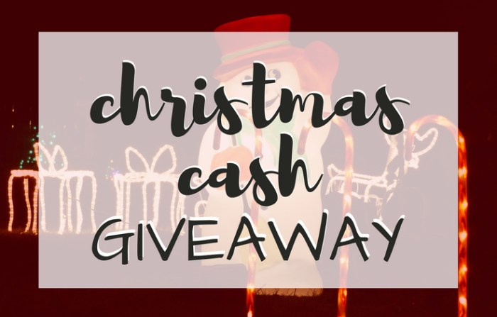 Christmas Cash Giveaway, TrishSutton.com