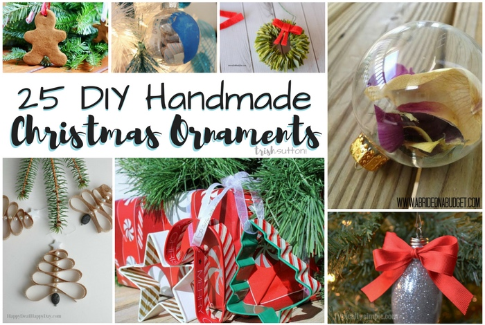 DIY Christmas Tree Ornaments; 25 Handmade Treasures, TrishSutton.com