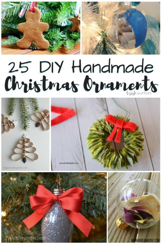 25 creative DIY Christmas Ornaments for kids and adults. Homemade ornaments are timeless treasures that can be given as gifts or kept & treasured for years.