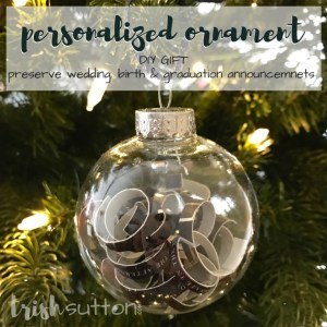 Personalized Ornament | Preserve Treasured Memories. This Christmas keepsake will be treasured for years.Preserve the memory of a wedding, birth, graduation or other big life events with this gift of the memory. Personalized Christmas Ornament by TrishSutton.com.