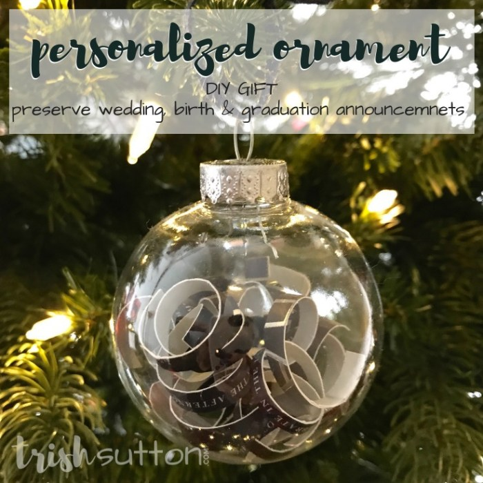 Personalized Ornament | Preserve Treasured Memories. This Christmas keepsake will be treasured for years. Preserve the memory of a wedding, birth, graduation or other big life events with this gift of the memory. Personalized Christmas Ornament by TrishSutton.com.