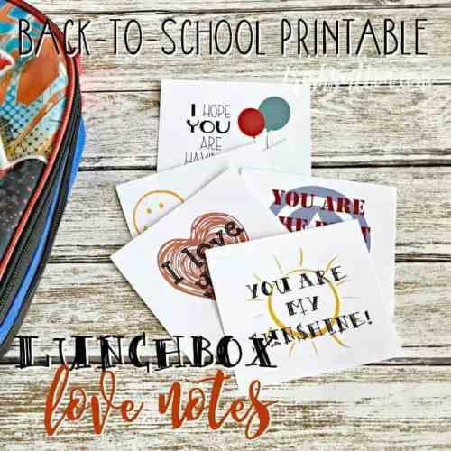 School Lunchbox Love Notes; Free Printable for Kids, TrishSutton.com