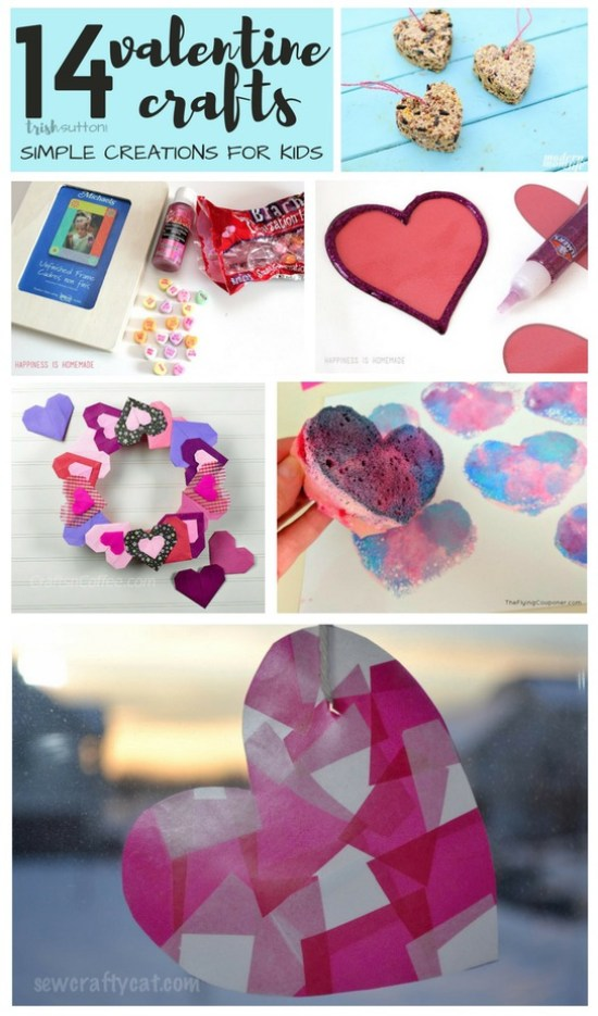 Valentine's Day Crafts for Kids   14 Simple Creations