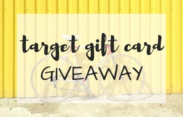 Target Gift Card Giveaway; TrishSutton.com