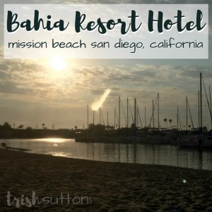 The Bahia Resort Hotel in San Diego, California is the perfect vacation destination for singles, couples and families. The location is perfect for travelers. No car required to enjoy the surrounding area of this lush property with a private bayside beach. Review: Trish Sutton.com