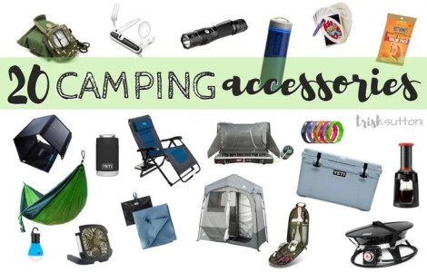 20 awesome Camping Accessories for outdoorsmen; Camping necessities and niceties to take along on your next trip to the great outdoors. Gift Guide for the Camp Crowd.