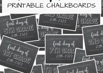 First Day of School Free Printable Chalkboards; from preschool & pre-k to 12th grade & CDO. Print these for the first day of school photos. TrishSutton.com