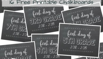 first day of school free printable chalkboards 2018 2019