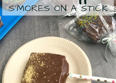 Chocolate Dipped S'mores. Perfect for parties! Amazing graham cracker, marshmallow & chocolate dipped sandwiches - Chocolate Dipped S'mores on a Stick. TrishSutton.com