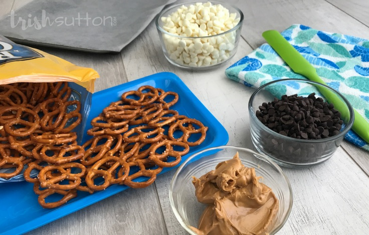 There are only four ingredients needed to create this sweet, salty and crunchy snack. Chocolate Peanut Butter Pretzels; TrishSutton.com.