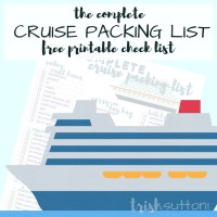 Cruise Packing List | Free Printable Complete Cruise Packing Check List