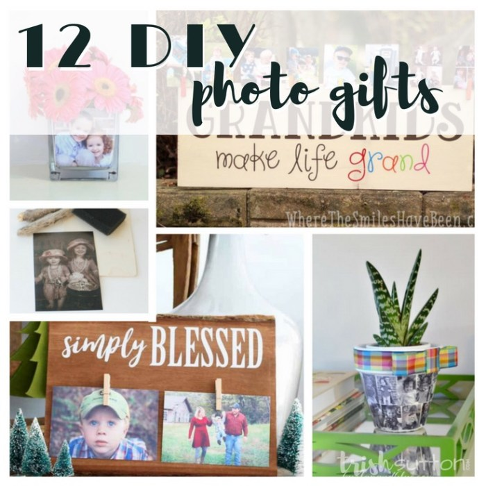 DIY Photo Gifts | Handmade Photo Crafts make lovely gifts for all occasions. Twelve personalized photo gifts created on canvas, wood, glass & more. TrishSutton.com #photogift #grandparentsday #mothersday #fathersday #christmas
