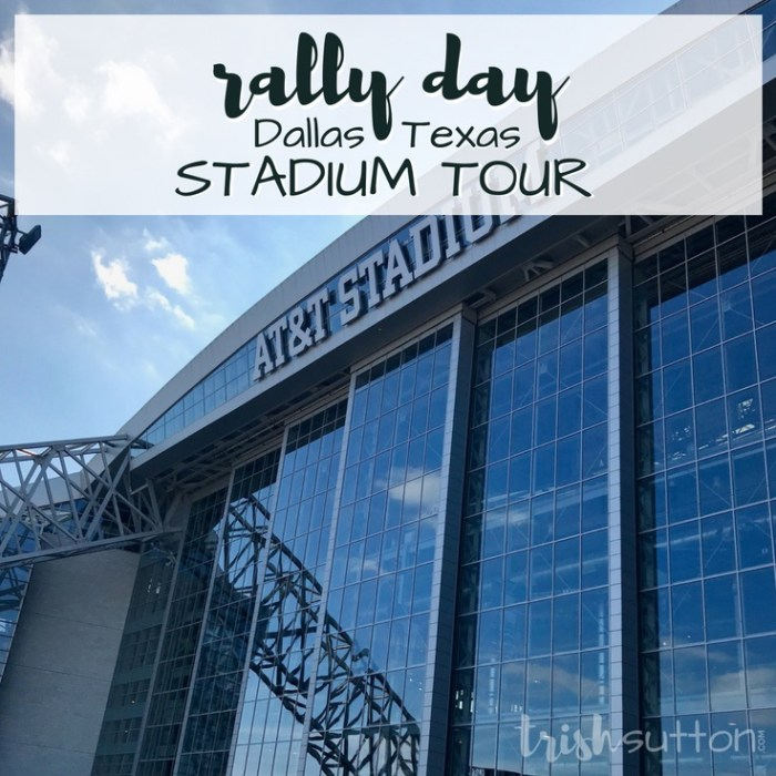 Rally Day; AT&T Stadium Tour, Dallas Texas TrishSutton.com Review #dallas #attstadium #cowboys