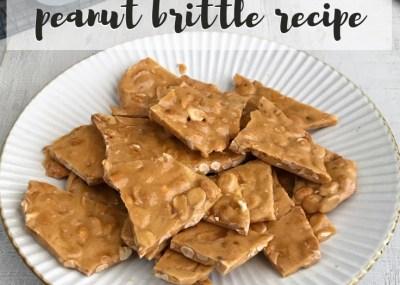 Peanut Brittle Simple Microwave Recipe; TrishSutton.com