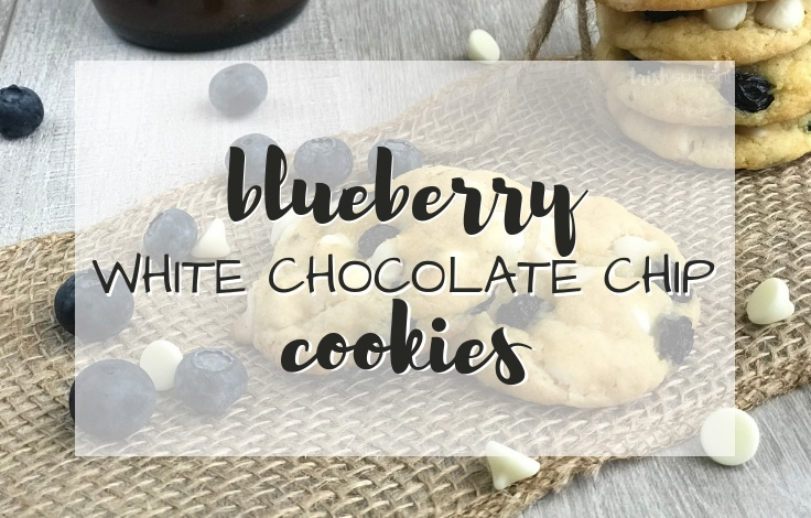 Soft batch Blueberry Cookies made with White Chocolate are simply sweet & a perfect addition to any celebration or holiday gathering. Recipe TrishSutton.com