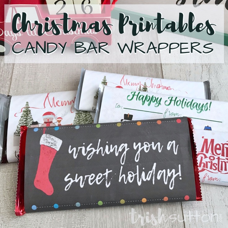 picture about Free Printable Candy Wrappers titled Totally free Printable Sweet Bar Wrappers Easy Lovable Xmas Reward