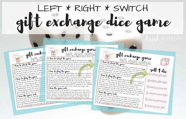 This fun gift exchange game is perfect for Christmas parties. Roll of the  dice, - Gift Exchange Game Printable Dice Left Right Switch Christmas Party