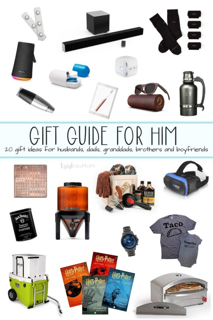 Images of gifts for men.