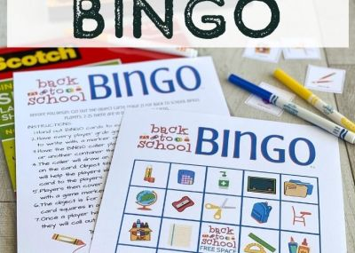 Bingo Cards with Markers in Background