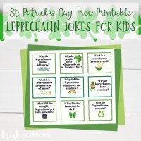 Leprechaun Jokes for Kids | St. Patrick's Day Free Printable